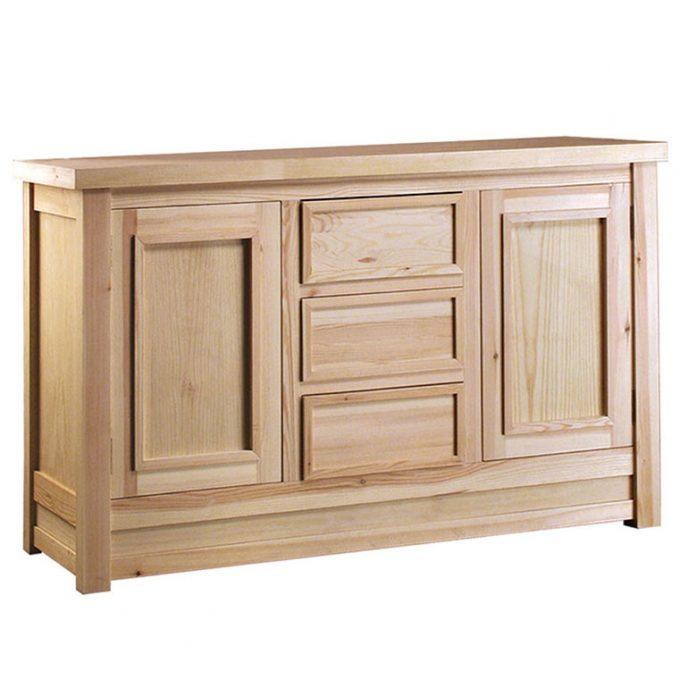 Aparador 150 cm. madera pino crudo modelo enmarcado