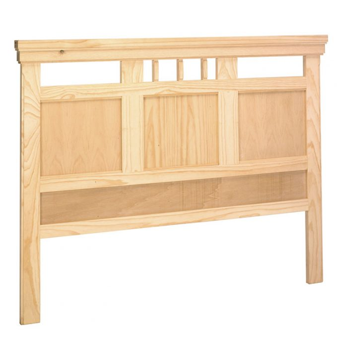Cabecero 90,105,135,150 cm. madera pino crudo modelo Juvenalia
