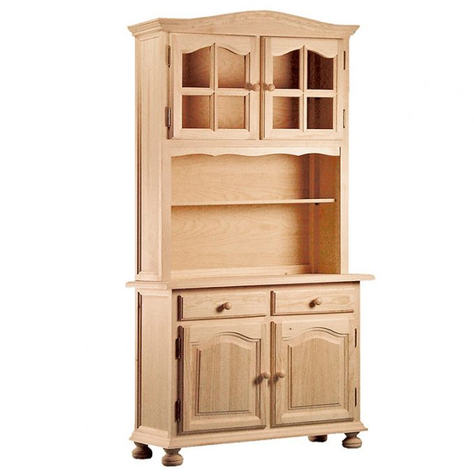 Libreria 2 puertas madera pino crudo modelo provenzal