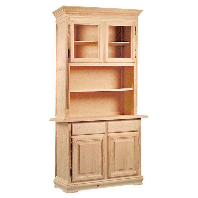 Librería 2 puertas madera pino crudo modelo Zócalo