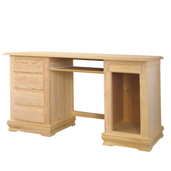 Mesa ordenador madera pino crudomodelo zócalo
