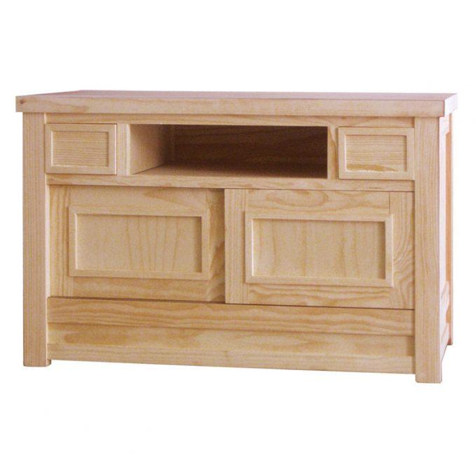 Mesa tv 115 cms. madera pino crudo modelo Enmaracado