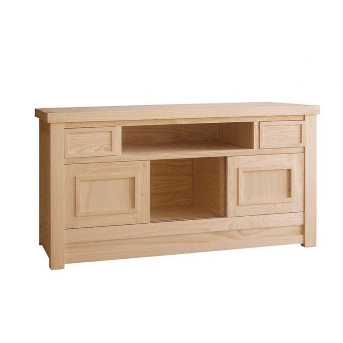 Mesa tv 140 cms. madera pino crudo modelo Enmaracado