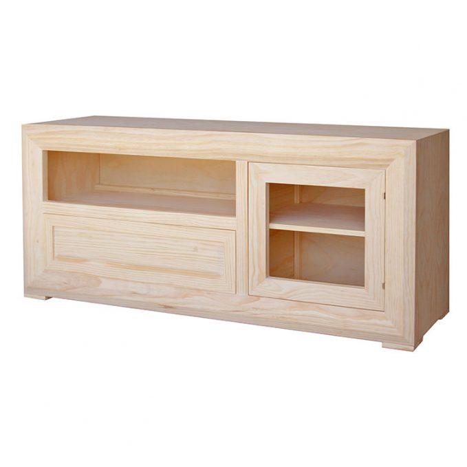 Mesa tv. 140 cm. madera pino crudo modelo Marsella