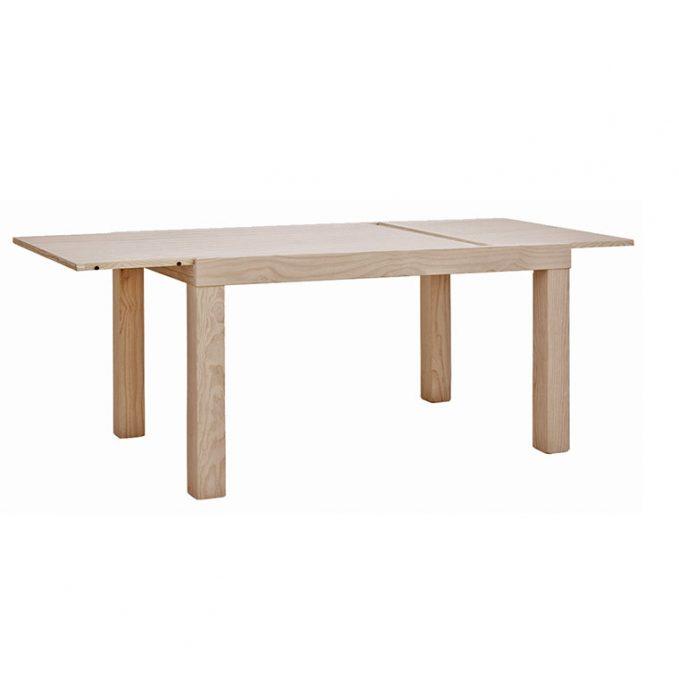 Mesa extensible 1 ala de 120,140,160 cm. madera pino crudo