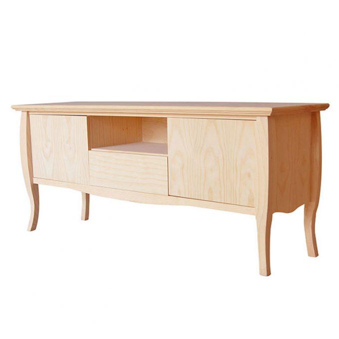 Mesa tv 140 cm. madera pino crudo modelo Inglés