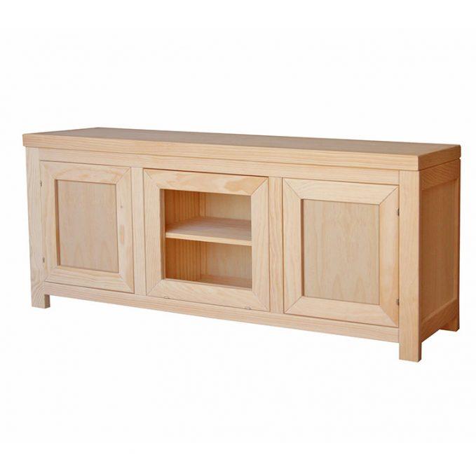 Mesa tv 140x60 cm. madera pino crudo modelo Austria