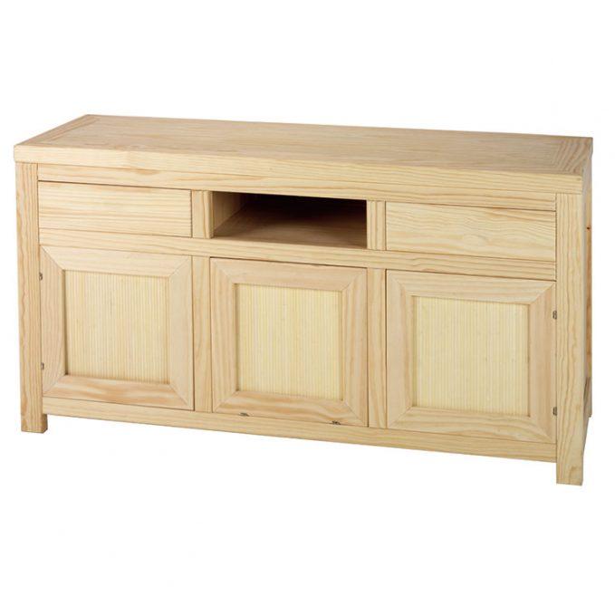 Mesa tv. 140 cm. madera pino crudo modelo Austria