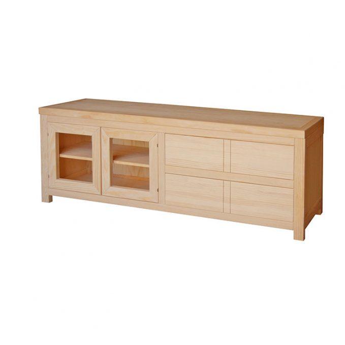 Mesa tv. 175 cm. madera pino crudo modelo Austria