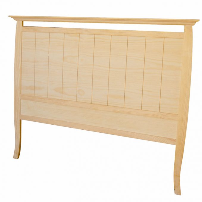 Cabecero 90, 105, 135 y 150 cm. madera pino crudo modelo Isabelino