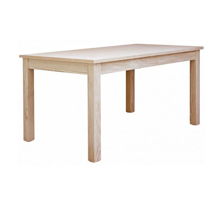 Mesa extensible 120, 140 y 160 cm. madera pino crudo modelo Eco