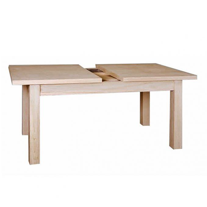 Mesa extensible 120, 140 y 160 cm. madera pino crudo modelo Cantabria