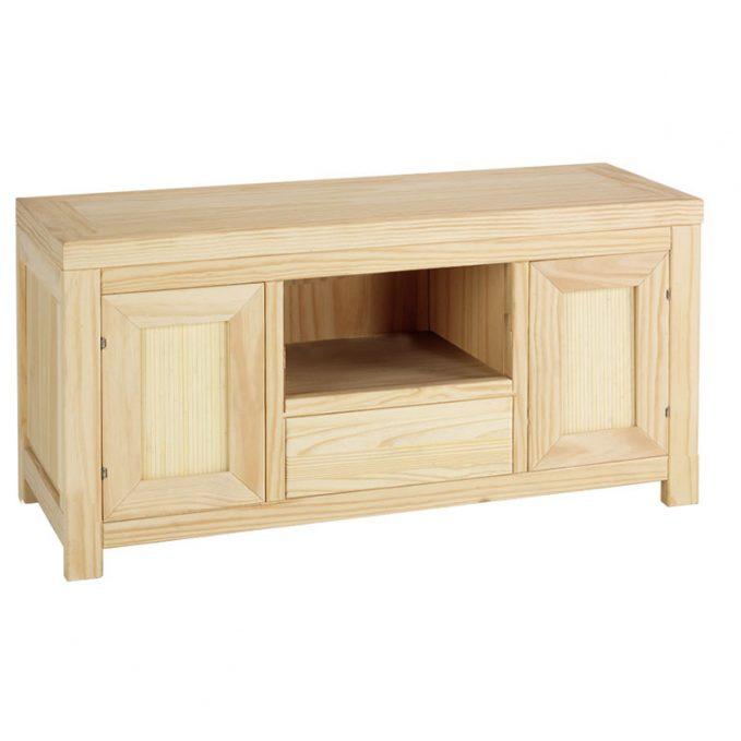Mesa tv 120 cm. madera pino crudo modelo Austria