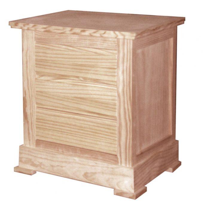 Mesita 3 cajones madera pino crudo modelo Juvenalia