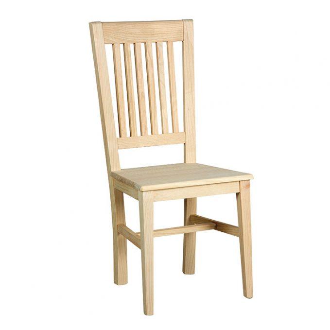 Silla modelo Talía asiento madera pino crudo