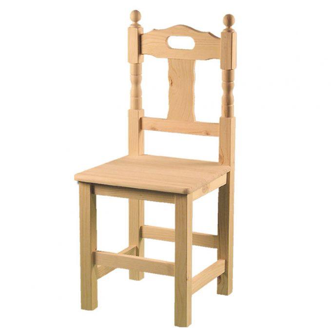 Silla modelo Asa asiento madera pino crudo