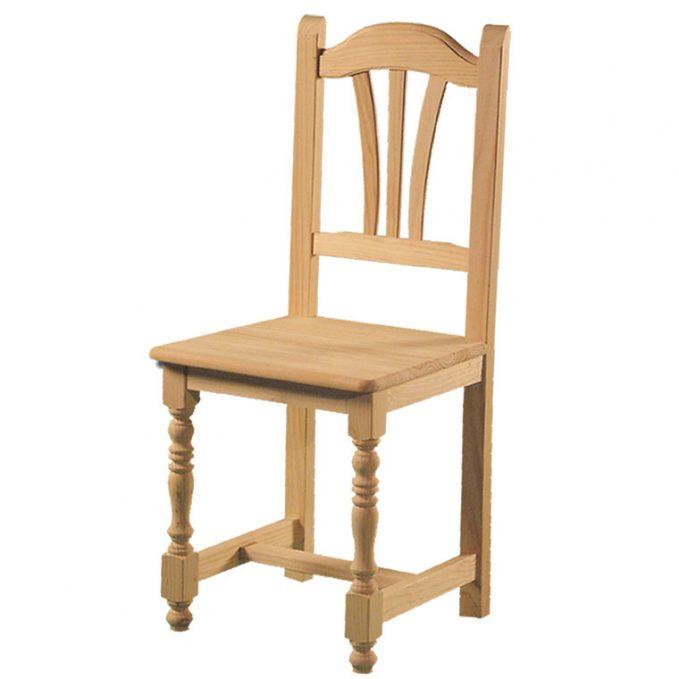 Silla modelo Palmera asiento madera pino crudo