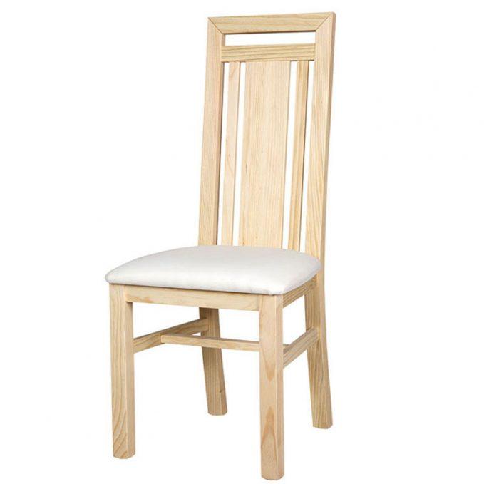 Silla modelo Rocio asiento pretapizado madera pino crudo