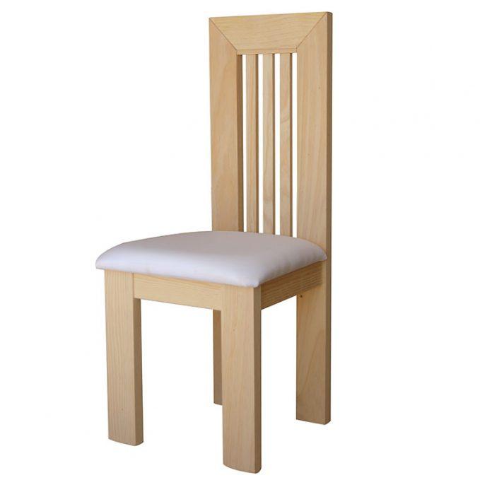Silla modelo Teruel asiento pretapizado madera pino crudo