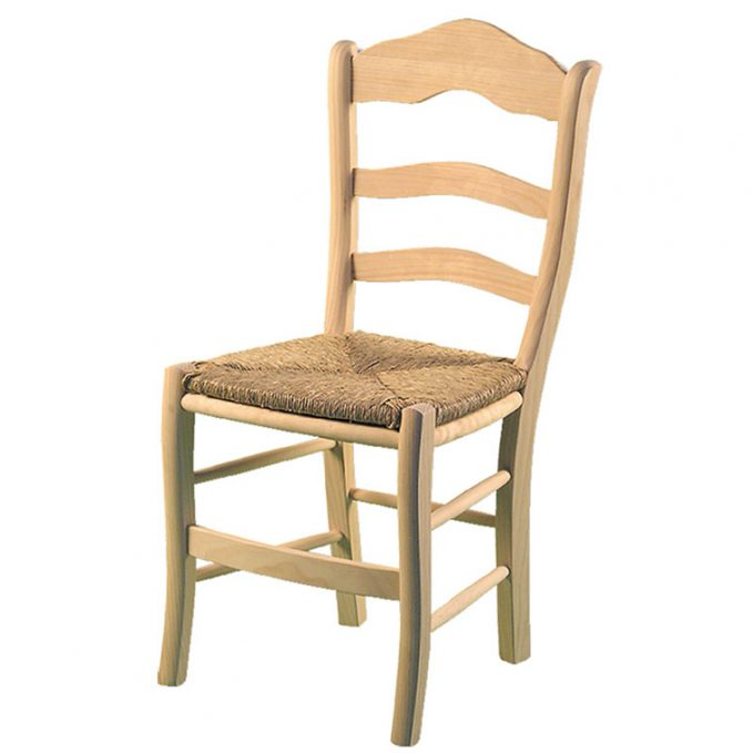 Silla modelo Úbeda asiento enea madera pino crudo