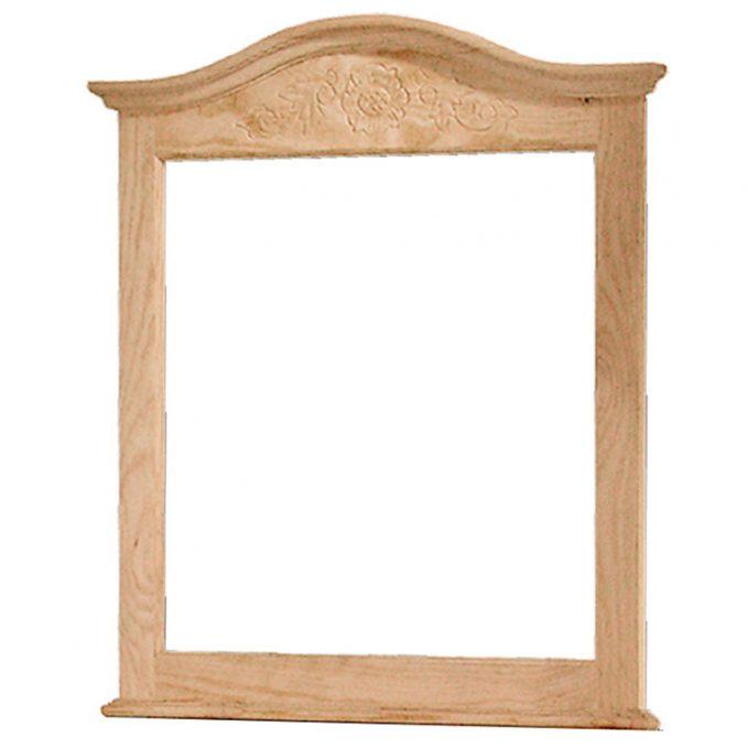 Marco madera pino crudo modelo Estilo con talla