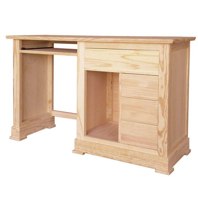 Mesa estudio madera pino crudo modelo Juvenalia