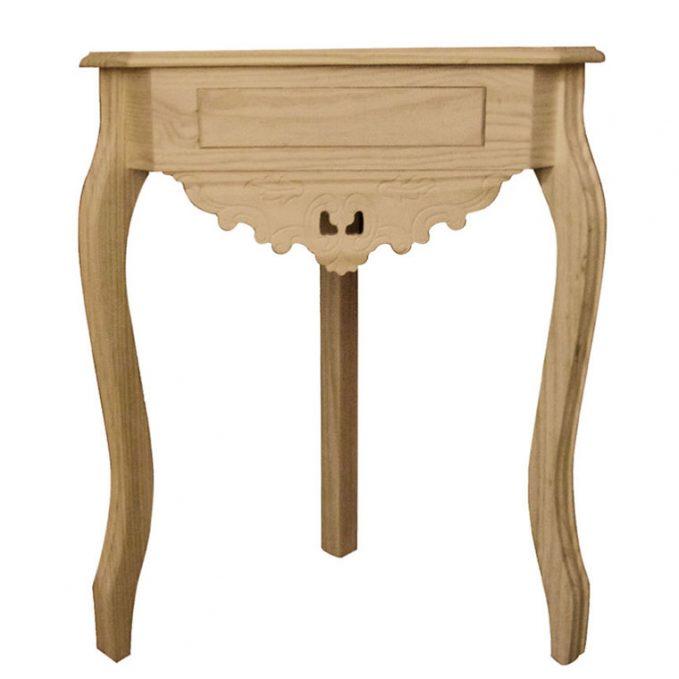 Consola rincón madera pino crudo modelo Isabelina