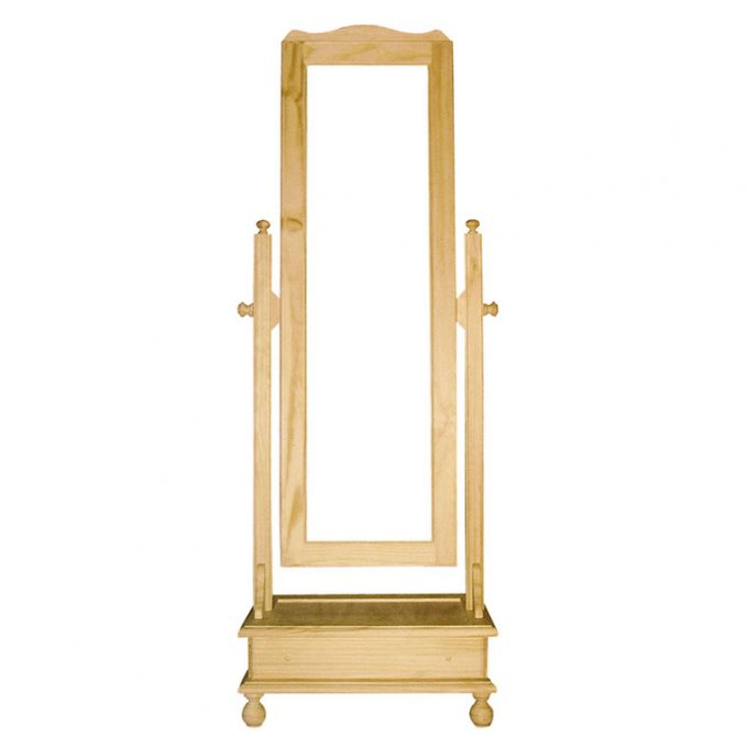 Vestidor alto con cajón madera pino crudo
