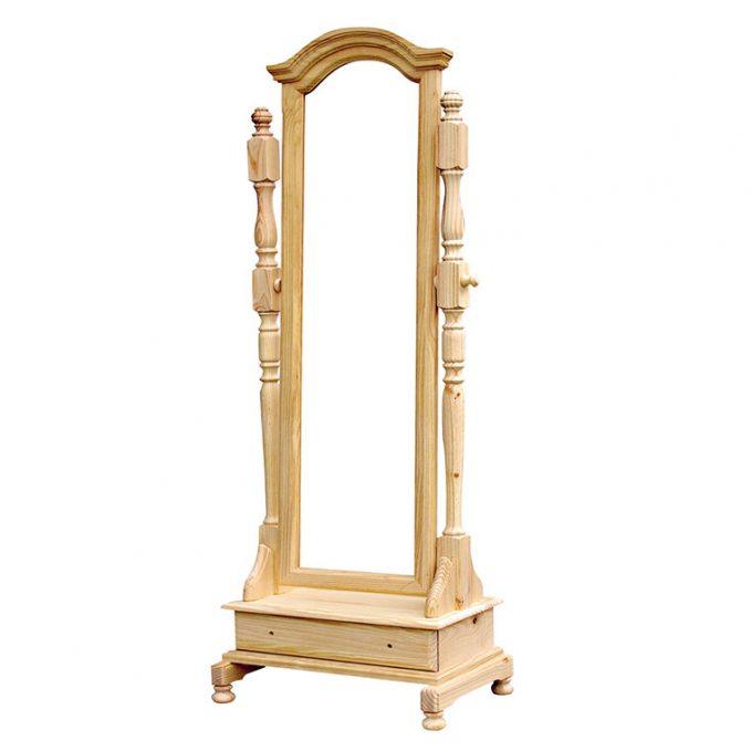 Vestidor forma con cajón madera pino crudo
