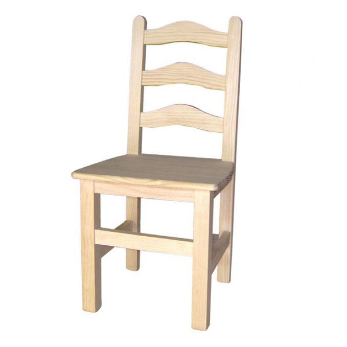 silla madera pino crudo modelo Toledo